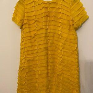 Kate Spade Yellow Ruffle Shift - size 4